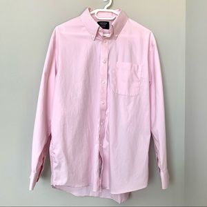 Nordstrom Non-Iron Pink Traditional Fit Shirt